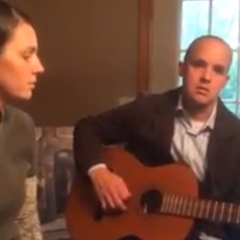 Brother and Sister sing… God of the Mountain